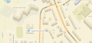 карта подъезда к школе 2
